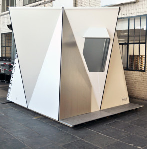 Fold Flat Shelters, Adrian Lippmann, form-al, Dibond, Alucobond, Hylite, Photos via Design Boom