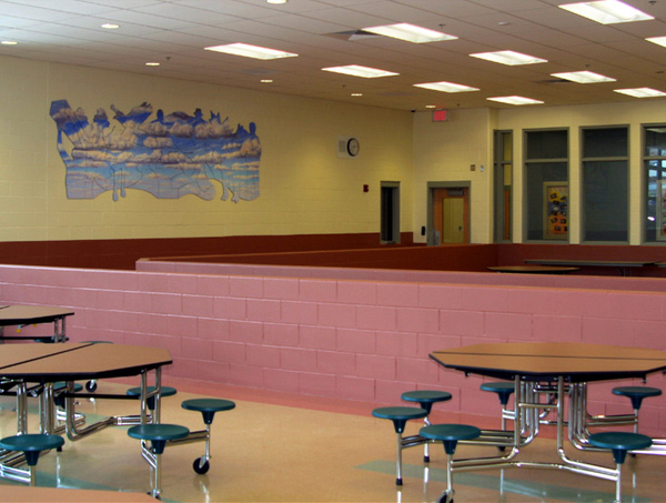Frank Gregory, Dibond Art Mural, Manchester New Hampshire Youth Development Center, Now & Then & Now & When