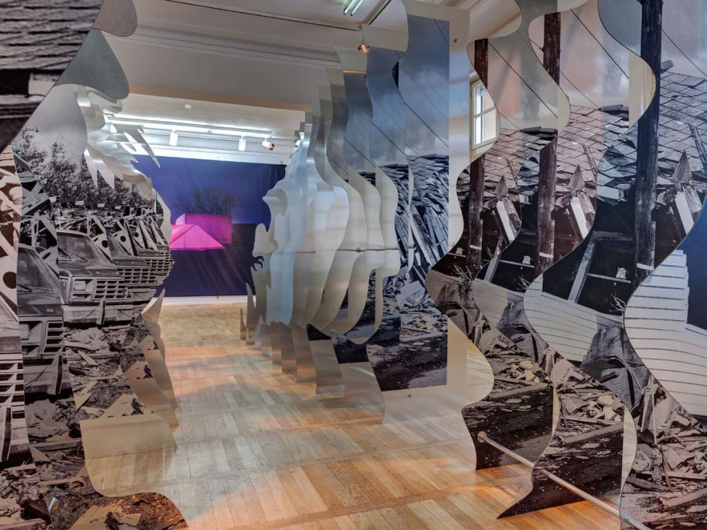 Distinct Ambiguity Exhibition, Berlin, GRAFT Architects, ThyssenKrupp Plastics, Reproplan Berlin oHG, Kathrein Tischlerei Innenausbau GmbH, Mirror Dibond 3A Composites USA
