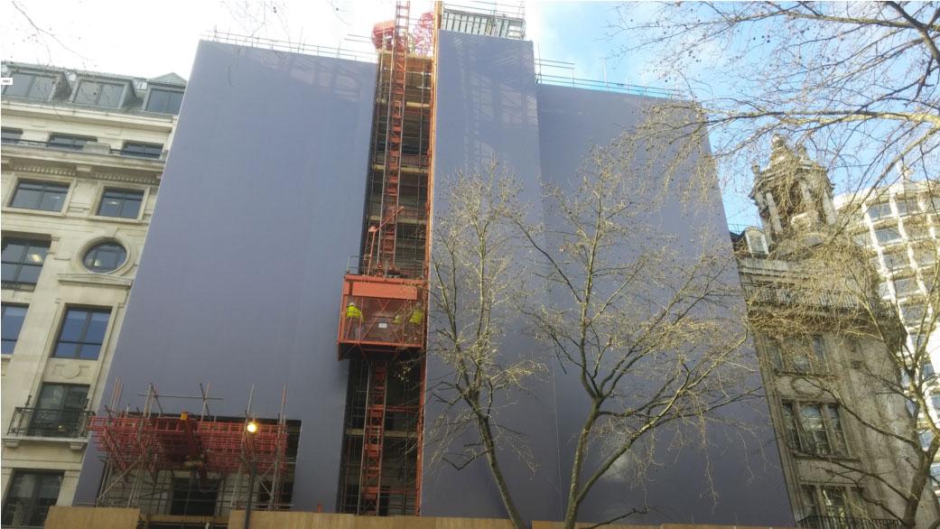 Embrace Building Wraps, London, Dibond Hoarding Installation