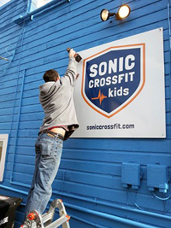 Sonic CrossFit Kids, RainMaker Signs, Dibond Aluminum Composite