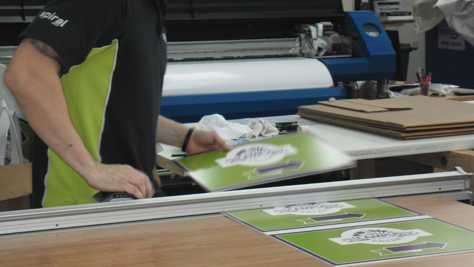 Spiral Print Parker Design Consultants Dibond Aluminum Signage