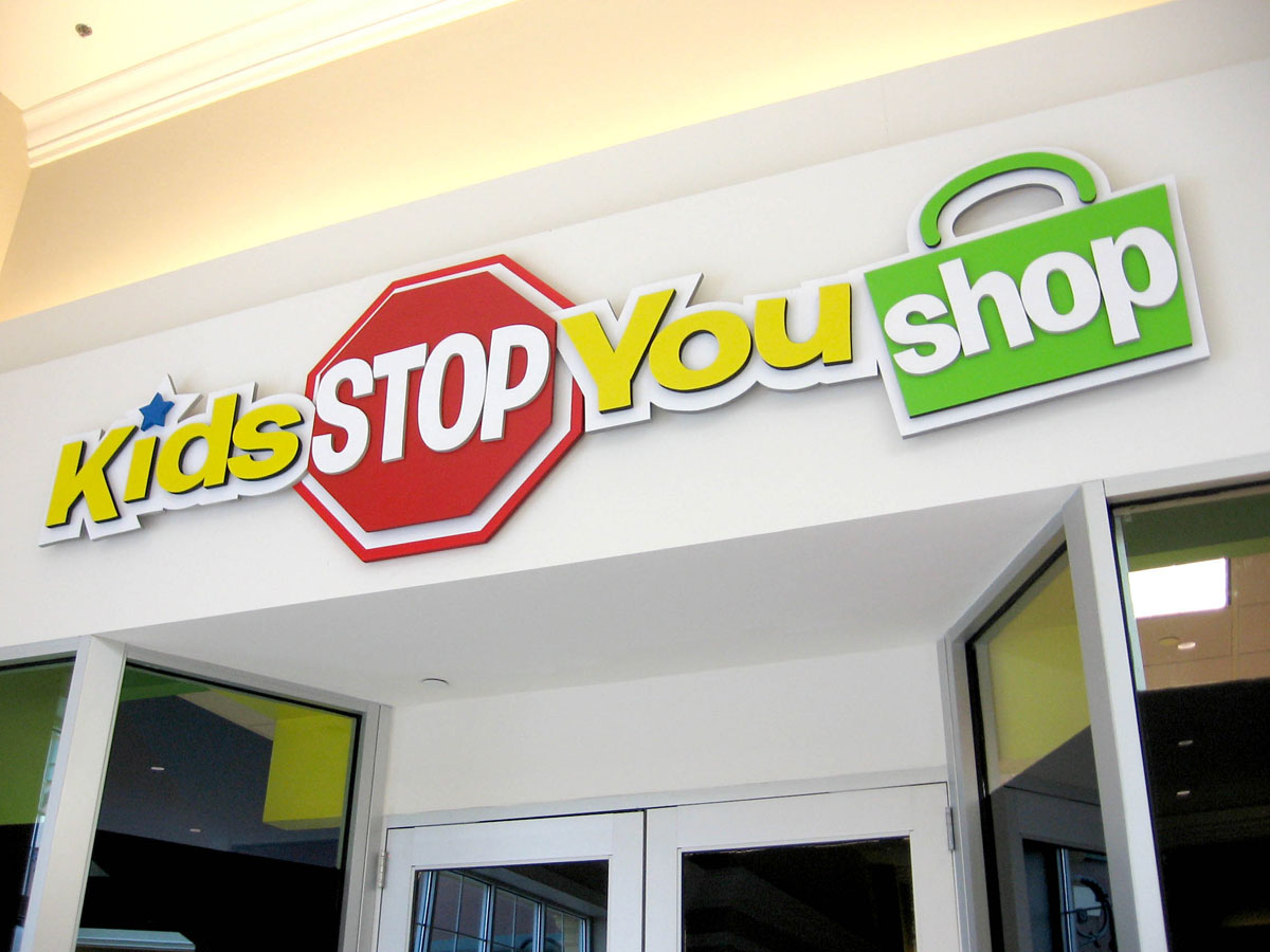 sign maker creates big looks for small business mall storefronts with gatorfoam