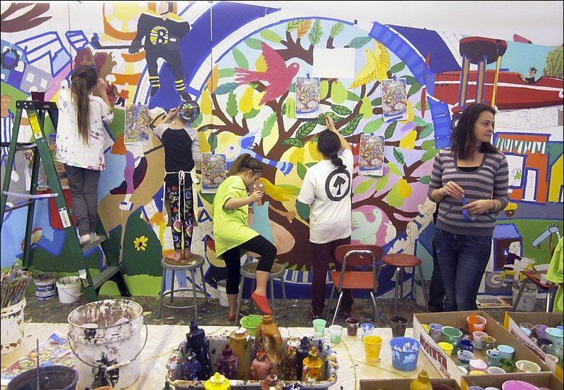 Riverside Elementary School, David Fichter, Danvers, Massachusetts, Dibond Painting Mural, Salem News