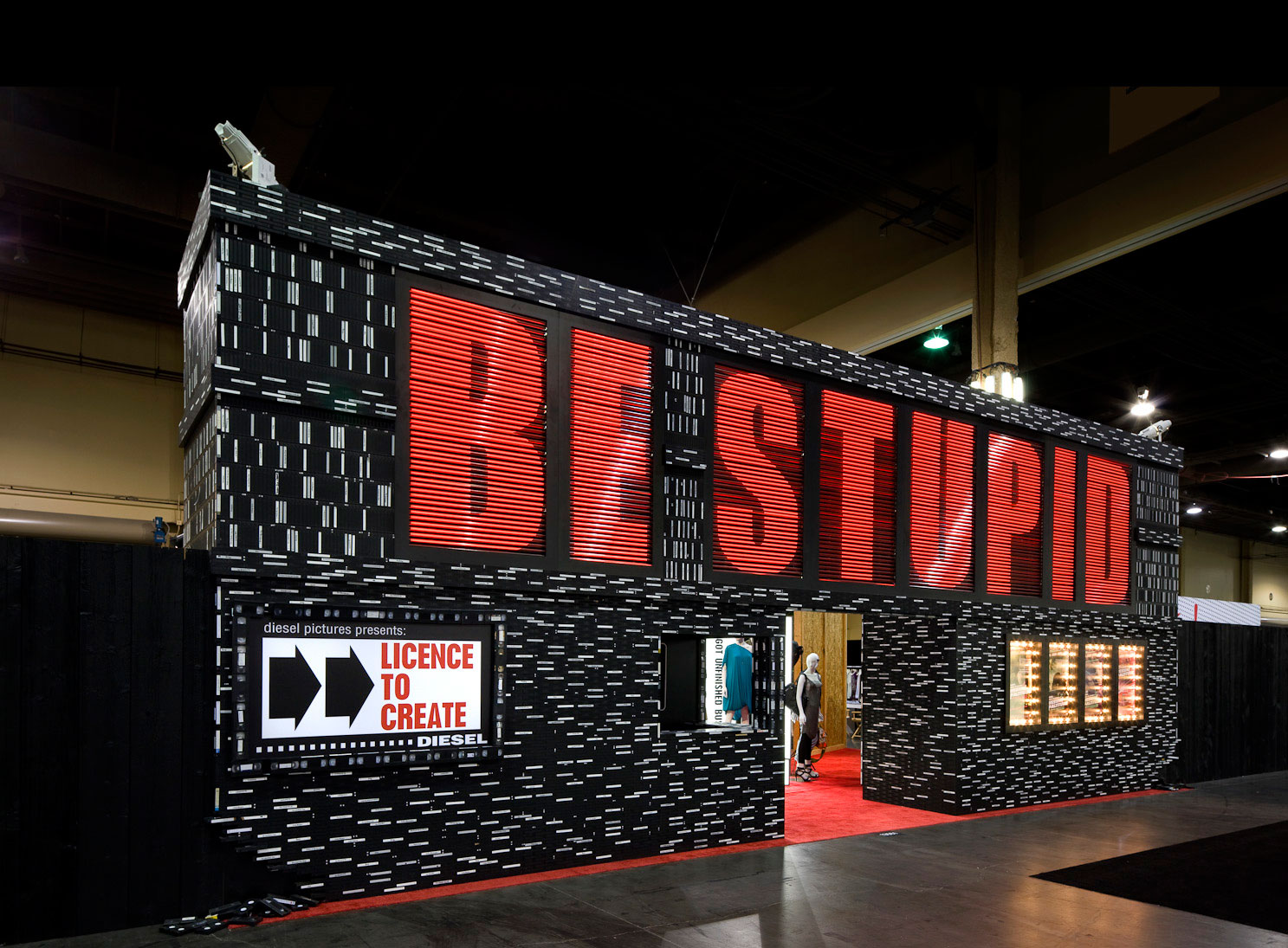 Diesel, Be Stupid, Tradeshow, Display, Gilbert Displays, Las Vegas, 3A Composites, graphic display USA, 1