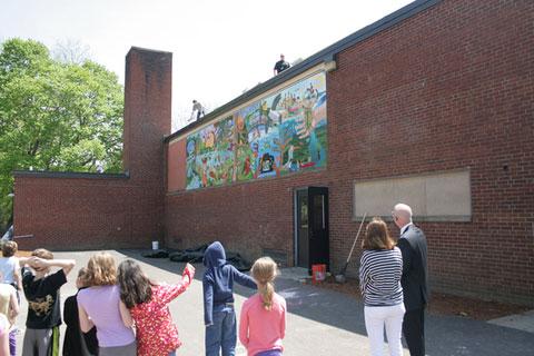 Winthrop, elementary, school, mural, ipswich, massachusetts, david, fichter, dibond