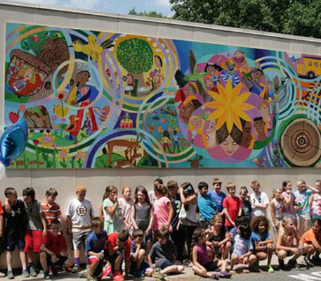 smith school mural, weivan g smith elementary school, mural, david fichter, danvers, massachussetts, dibond