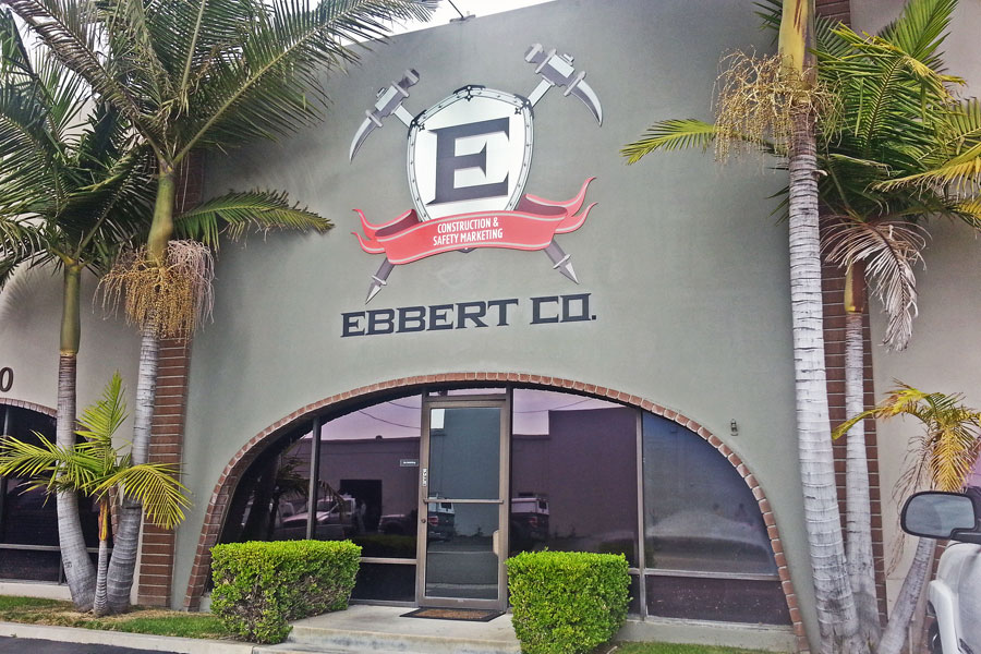 Ebbert, construction, company, sign, printed, on, Dibond