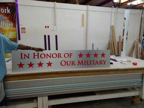 Military Dedication Wall Charleston SC Dibond The Sign Chef