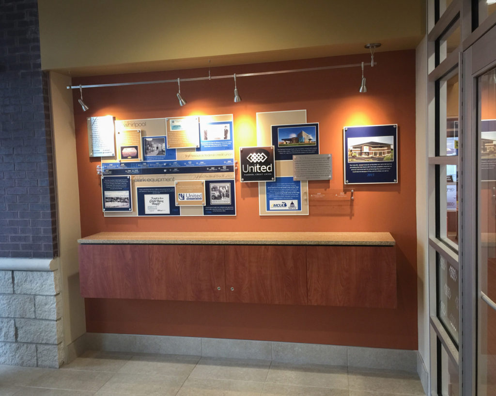 Agio Imaging, Dibond ACM, Interior Wall Decor, Credit Union Timeline