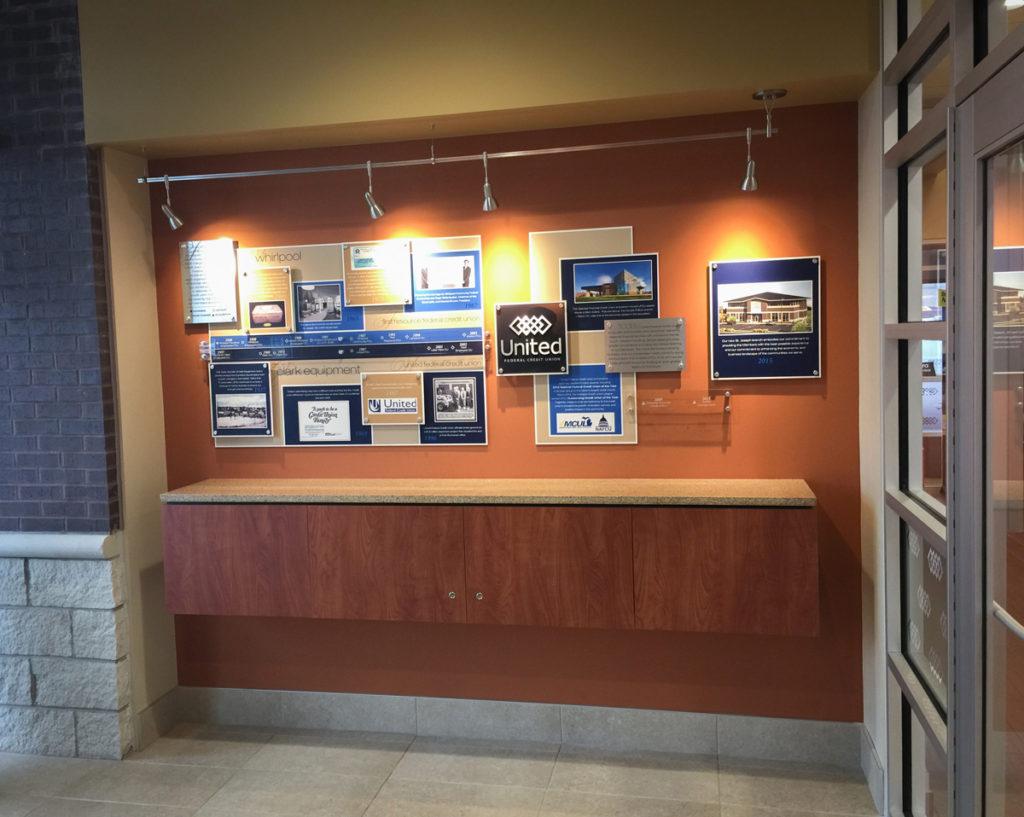 Agio Imaging, Dibond ACM, Interior Wall Decor, Credit Union Timeline