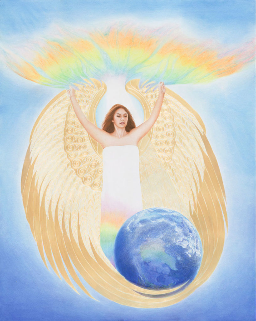 Angel Gaia Mahina, Calley ONeill, Goddess Paintings, Gatorfoam, 3A Composites Graphic Display USA