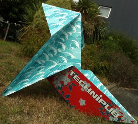 Technipub, Cocette en Papier, Origami Sculpture, Dibond Aluminum Composit, 3A Composites