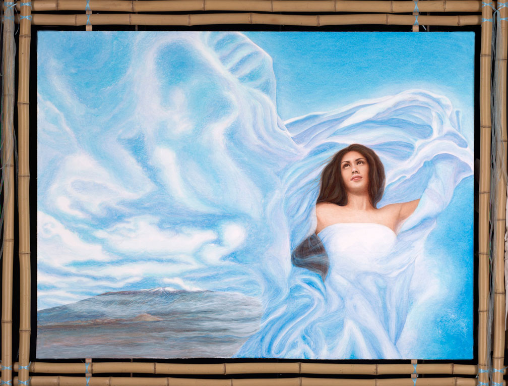 Wind Goddess, Calley ONeill, Goddess Paintings, Gatorfoam, 3A Composites Graphic Display USA