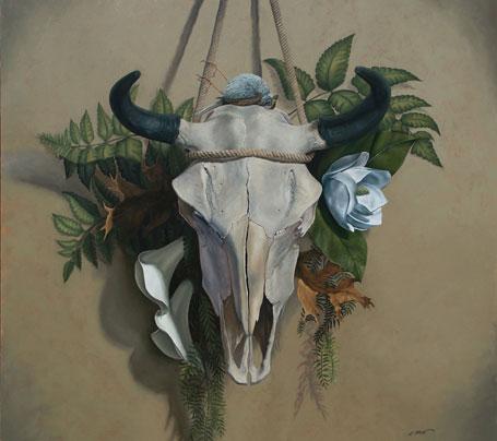Christine Mercer Vernon Studio, Dibond, Oil On Panel Paintings