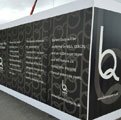 Spiral Colour Hoarding Printing, Cheshire West Chester Council, Dibond Aluminum Composite