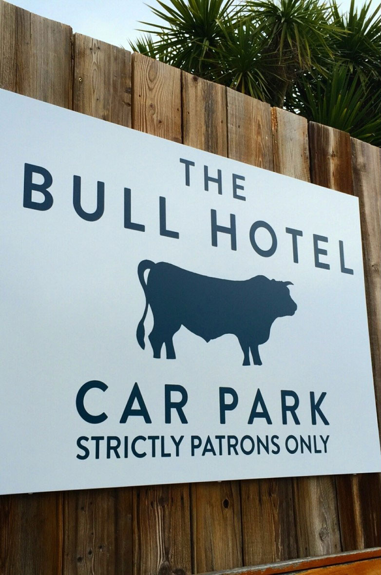 The Bull Hotel, Exterior Dibond Signage, Creative Solutions