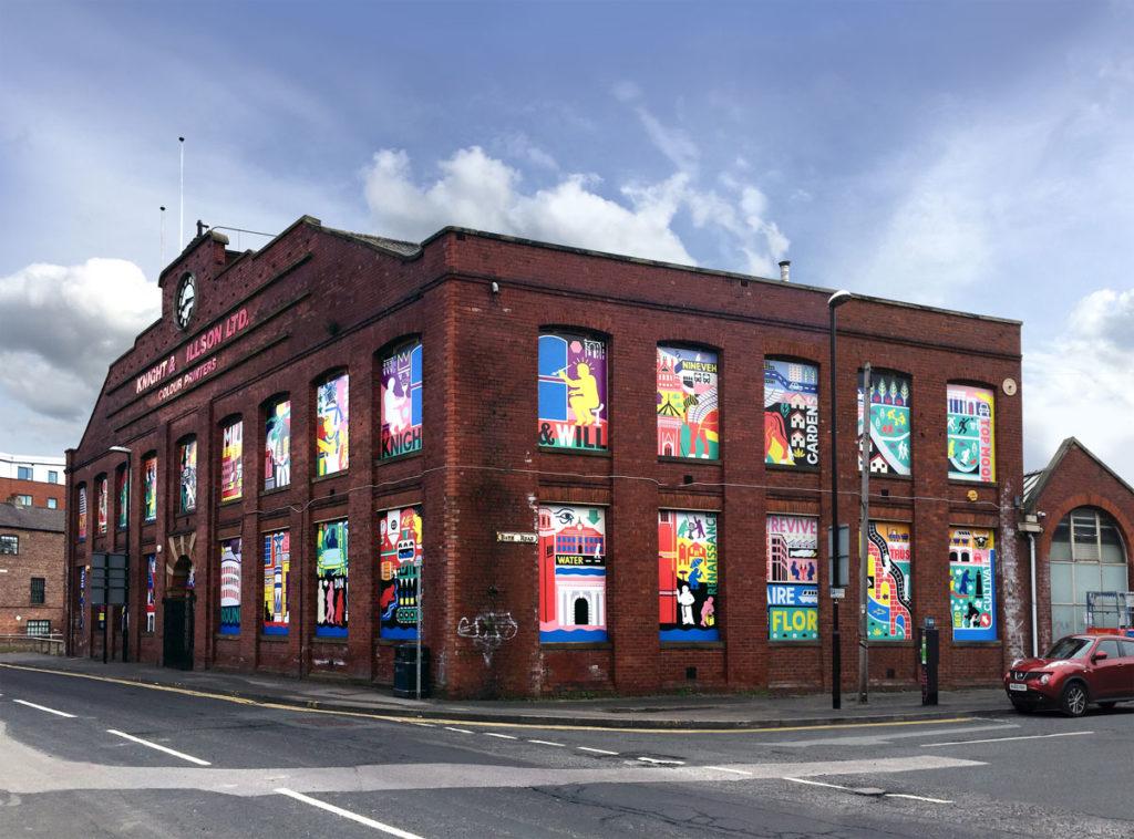 Ian Kirkpatrick, Leeds Artist, Renaissance, Dibond Mural, South Bank UK