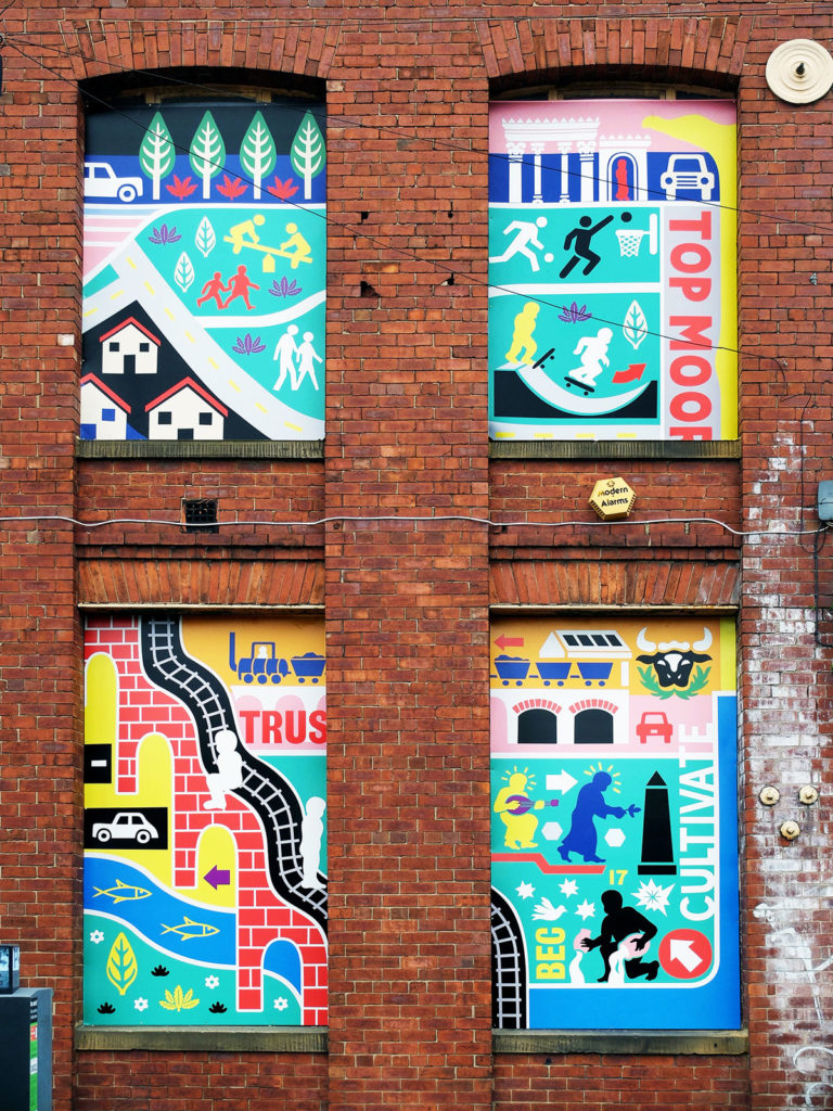 Ian Kirkpatrick, Leeds Artist, Renaissance, Dibond Mural, South Bank UK