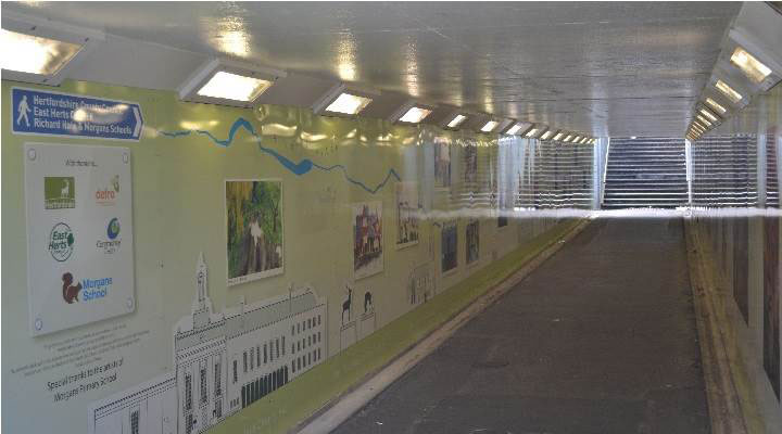 Rookes Alley Castle Street Subways Revitialization, Wallspace UK, Dibond, Digital Print, ACM