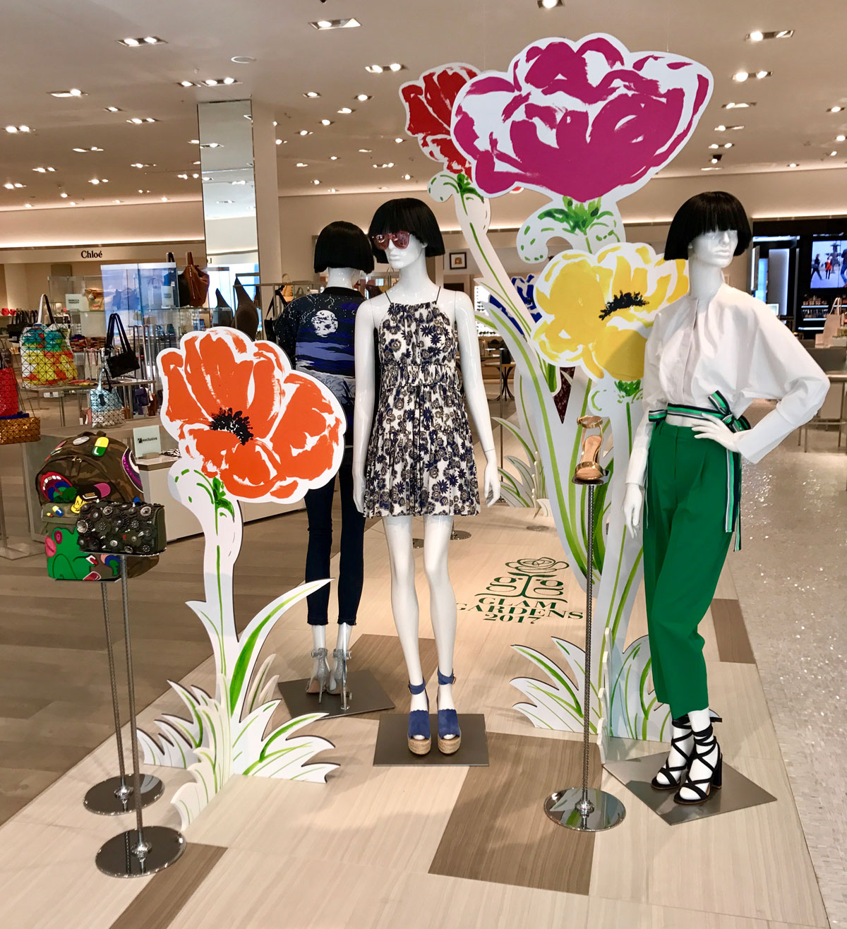 "Image Result For Visual Display Garden Center: Saks' ""Glam Gardens"" Beauty Event Reaches New Heights With"