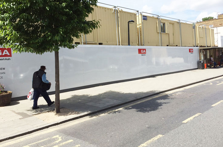 Wallace Print, England, Signage, Hoarding, Dibond Aluminum Composite Material