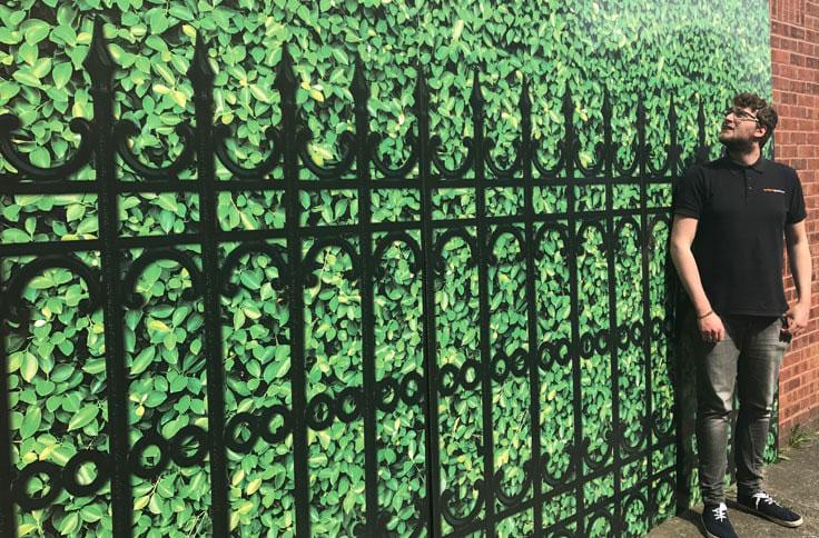 Wallace Print, England, Signage, Hoarding, Dibond Aluminum Composite Material