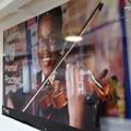 Spiral Colour Print, Parker Design, Kings Leadership Academy, Warrington, England, Dibond Interior Signage