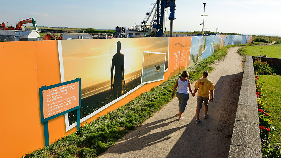 Parker Design UK, United Utilities, Crosby Beach, Dibond Aluminum Composite, Hoarding Signage
