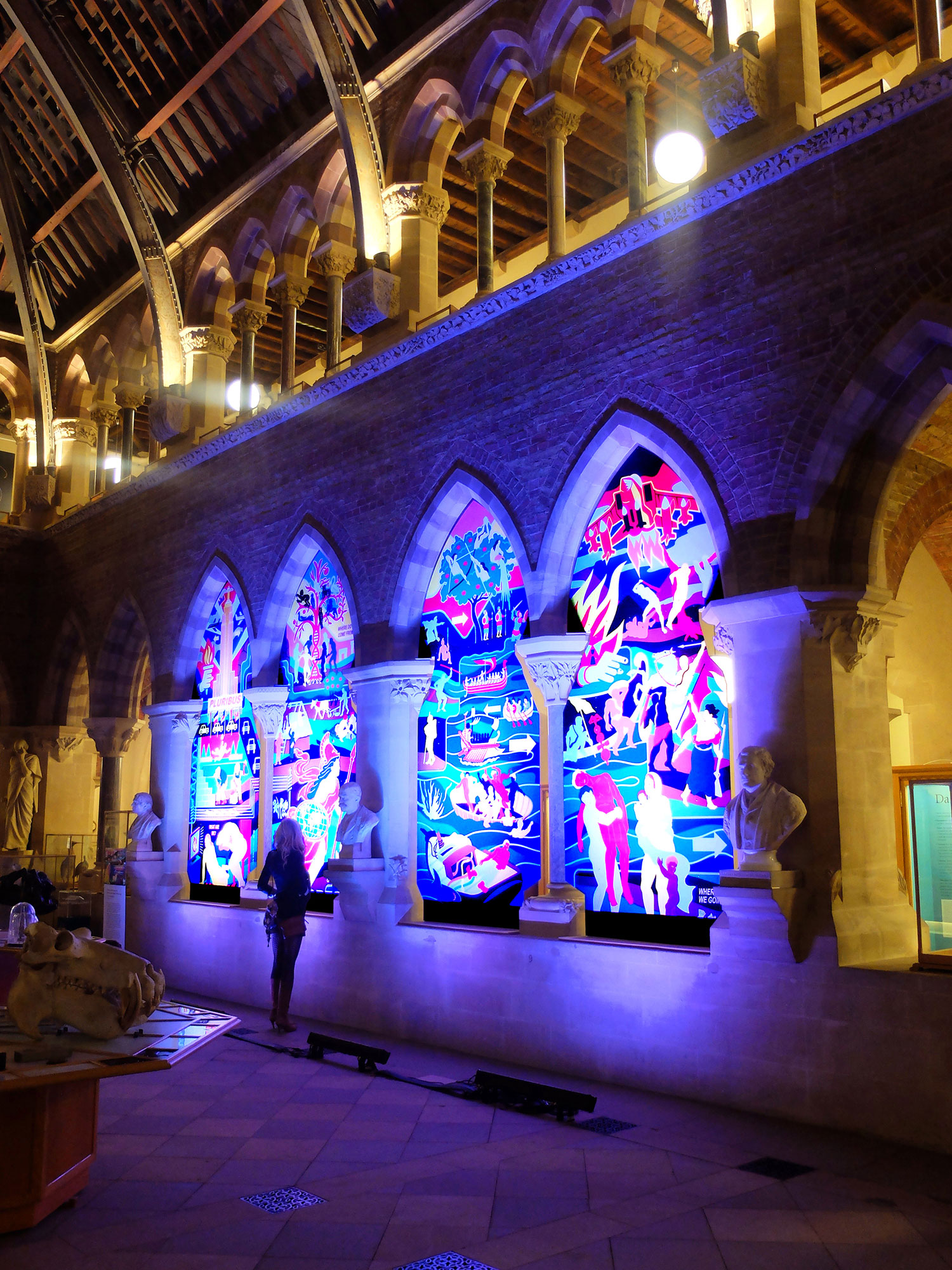 Ian Kirkpatrick, Oxford University Museum of Natural History, Leeds, Dibond Art Installation, 2018