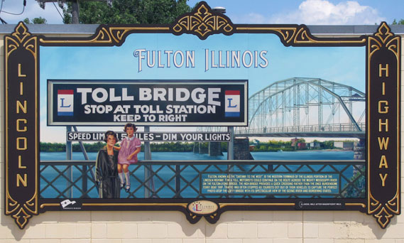 Lincoln Highway Murals, Jay Allen ShawCraft Signs, Illinois, Dibond Aluminum Composite Substrate