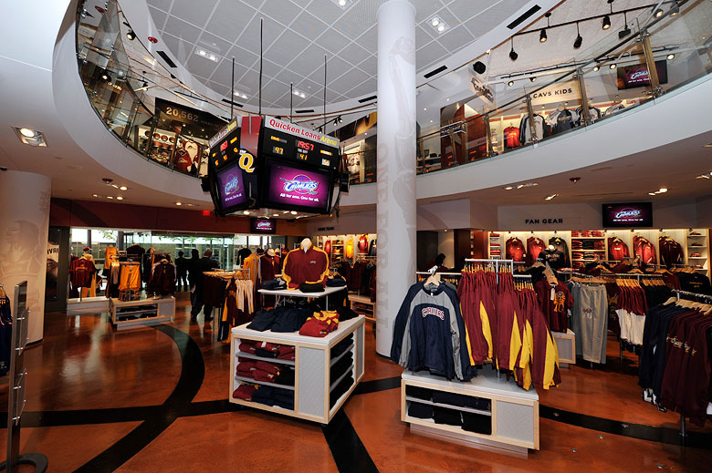 NBA, Cavaliers Team Shop, Cleveland, Quicken Loans Arena, Brand Decor