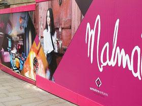 Malmaison Hotel, Hoarding, UK, Screenprint Display, Dibond, Hoarding