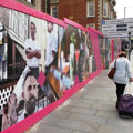 Malmaison Hotel, Hoarding, UK, Screenprint Display, Dibond, Hoarding