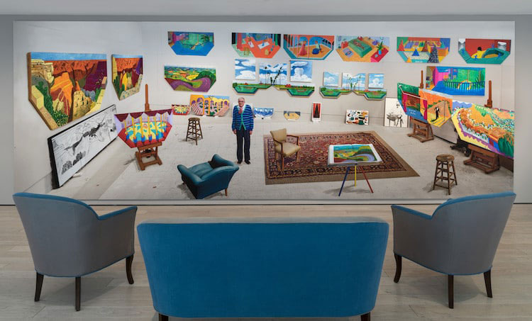 lacma, david hockney, 82 portraits and 1 still life