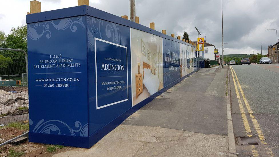 Adlington Retirement Apartments, Signage, Hoarding, Spiral Colour UK, Dibond
