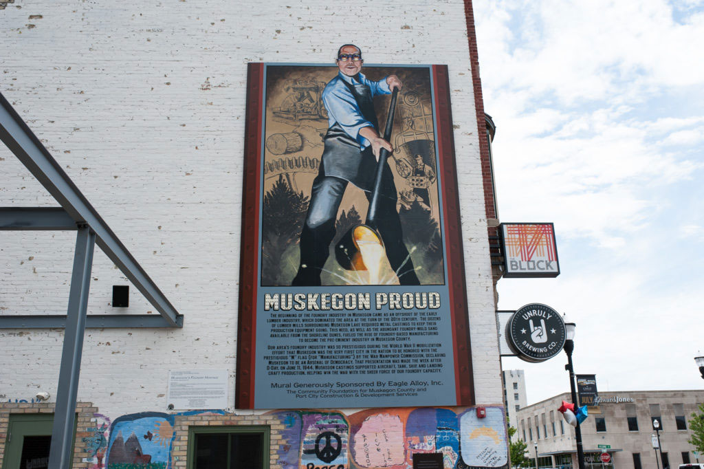 Pride of Muskegon, Muskegon Proud, Dibond Mural, Photo by the mitten adventure