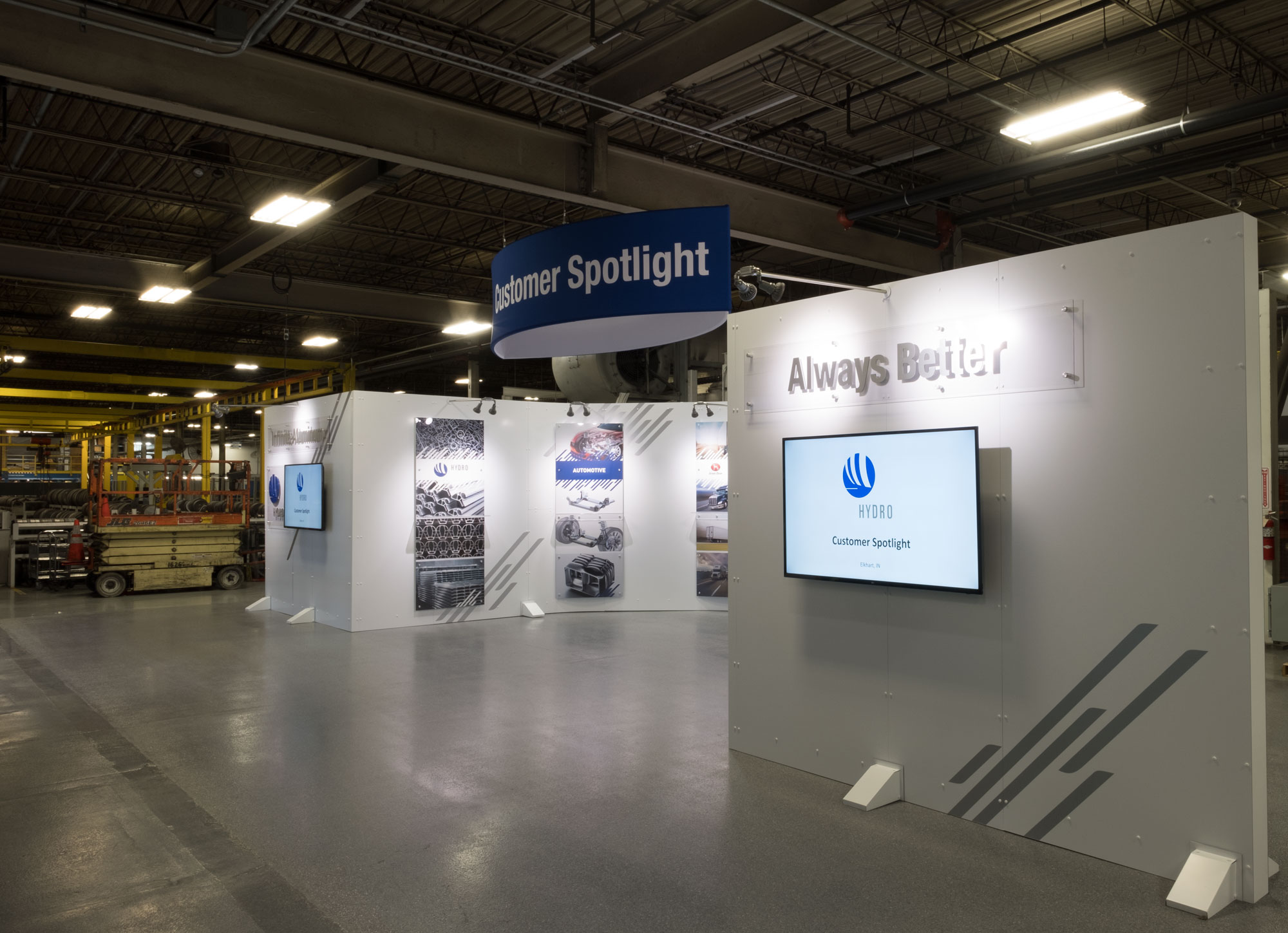 Agio Imaging, Freestanding Dibond Display, Hydro Customer Spotlight, 3A Composites USA