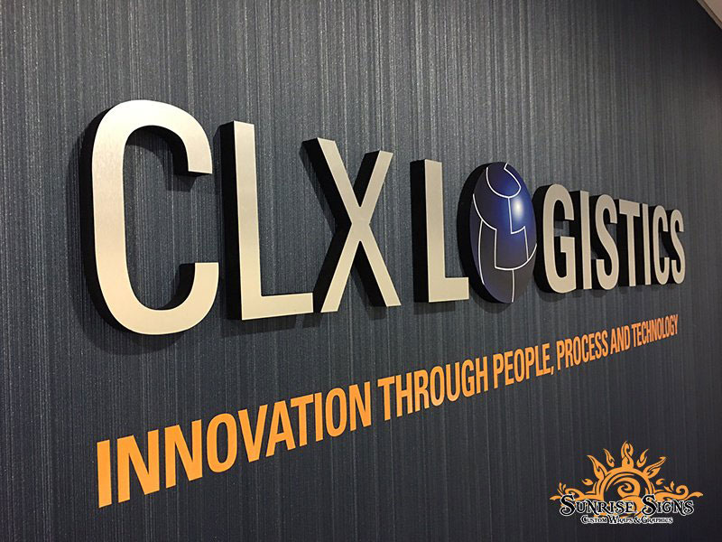 CLX Logistics, Sage Frog Marketing, Sunrise Signs, Gatorfoam Interior Signage