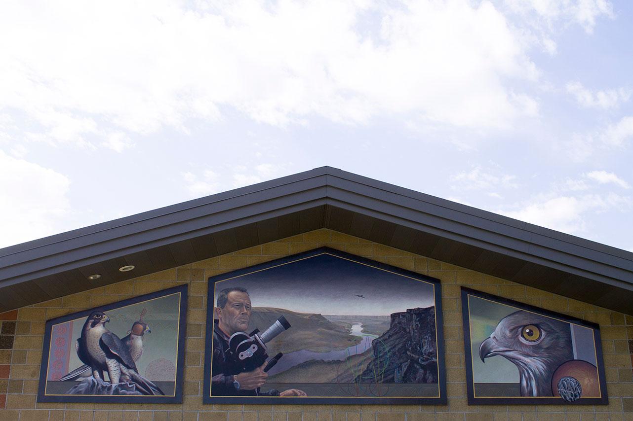 Morley Nelson Mural, 2010, Marcus Pierce, Dibond