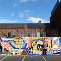 Ian Kirkpatrick Artist, Crossroads, Middlesbrough, England, Dibond Mural